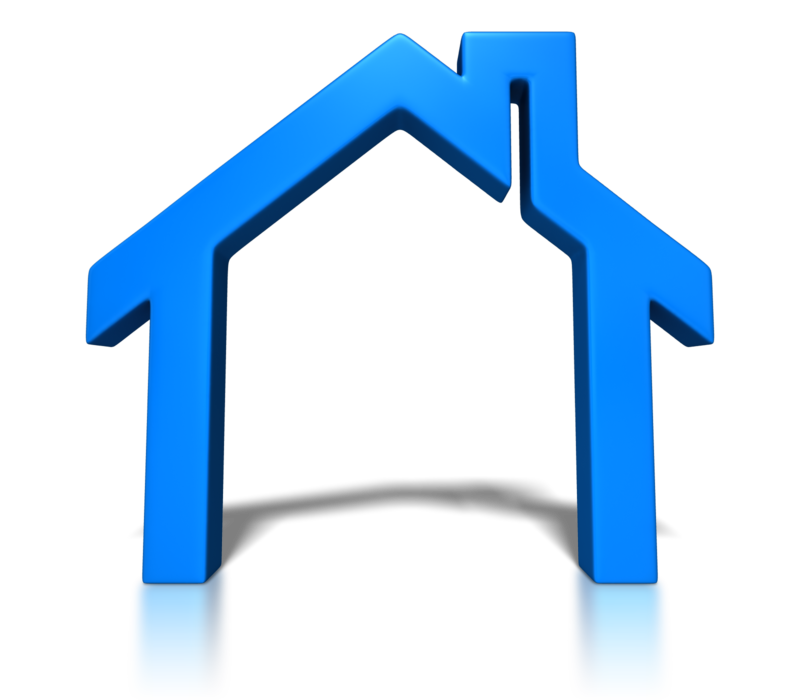 Blue House Outline